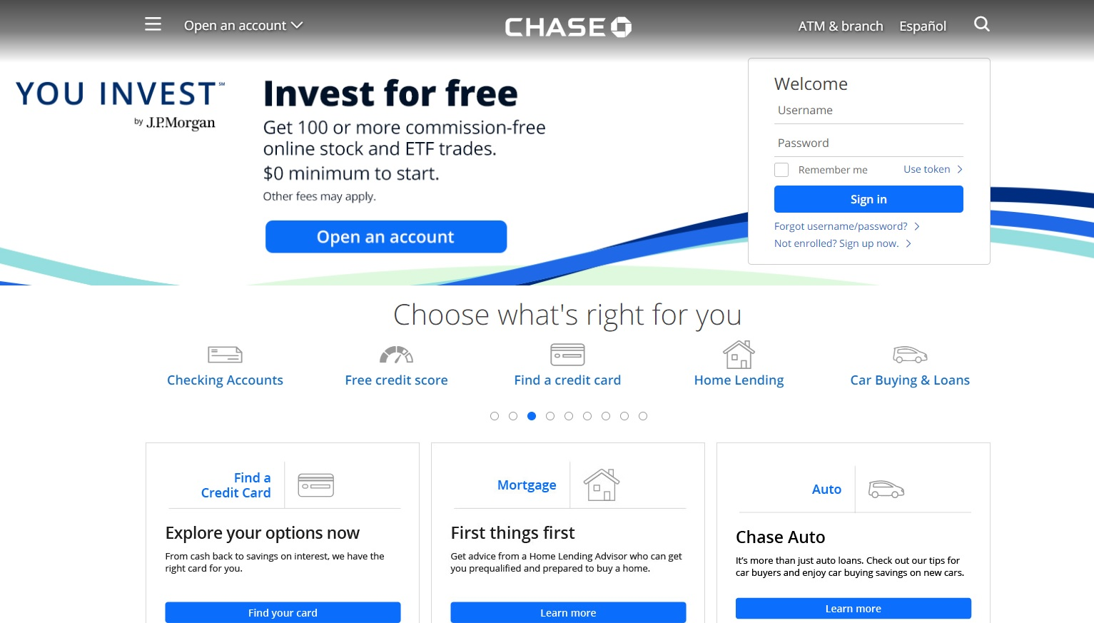 Chase Bank Online and Mobile Banking