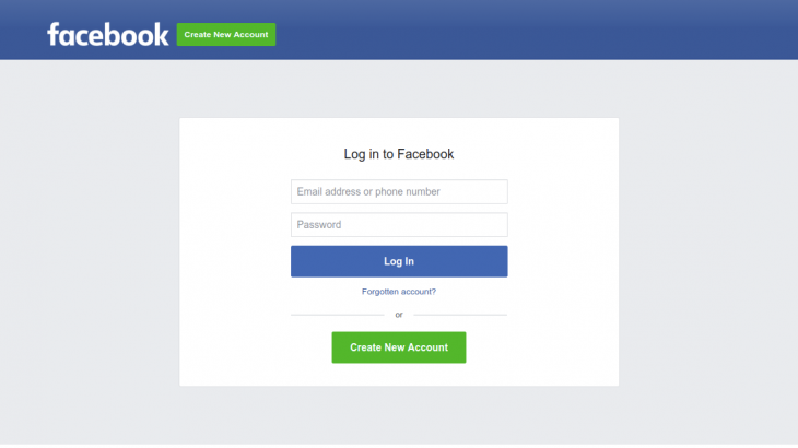Login In Facebook Logo