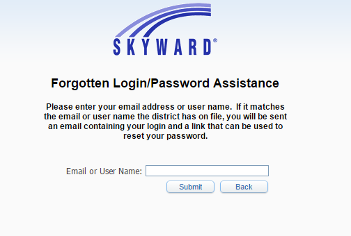 Skyward FBISD Forgot Password