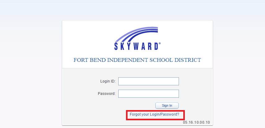 Log in to Skyward FBISD
