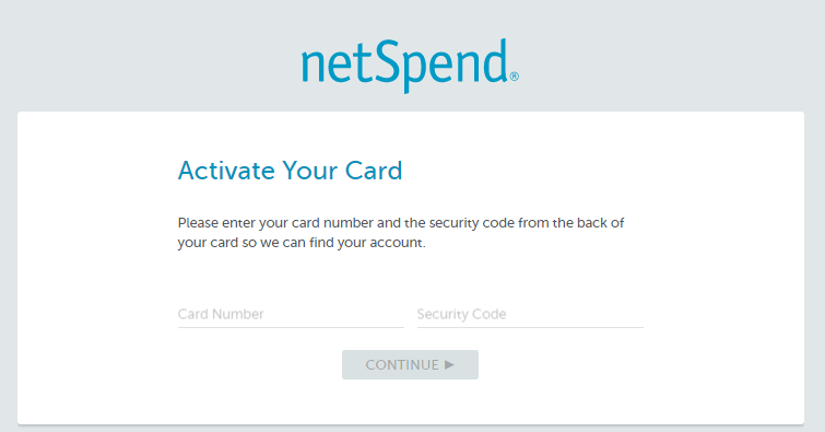 NetSpend Activate Card
