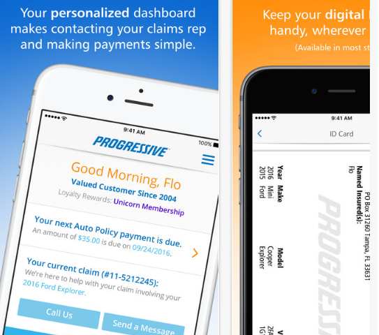 Progressive Auto insurance Mobile Login