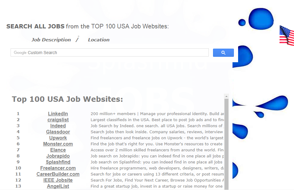 Splashfind Jobs in the USA