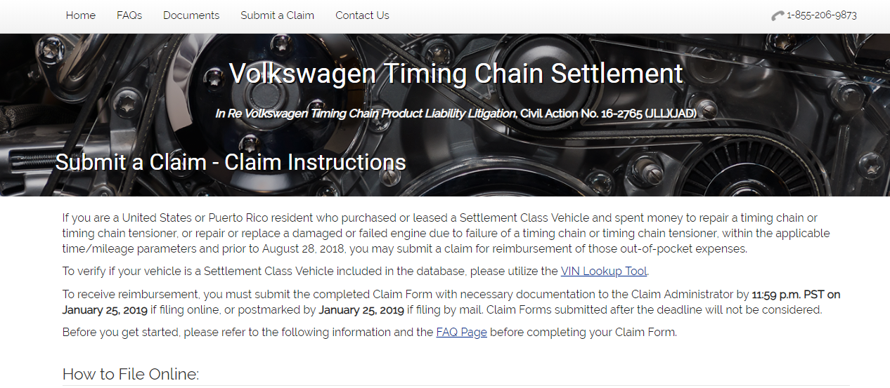 Claim Up to $6500 Volkswagen Timing Chain Class Action Settlement
