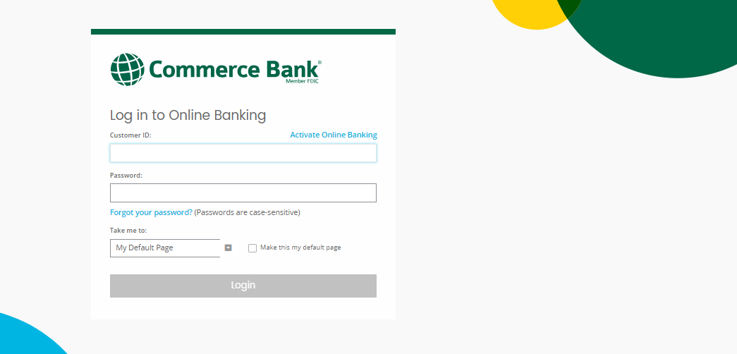Commerce Bank Credit Card Login