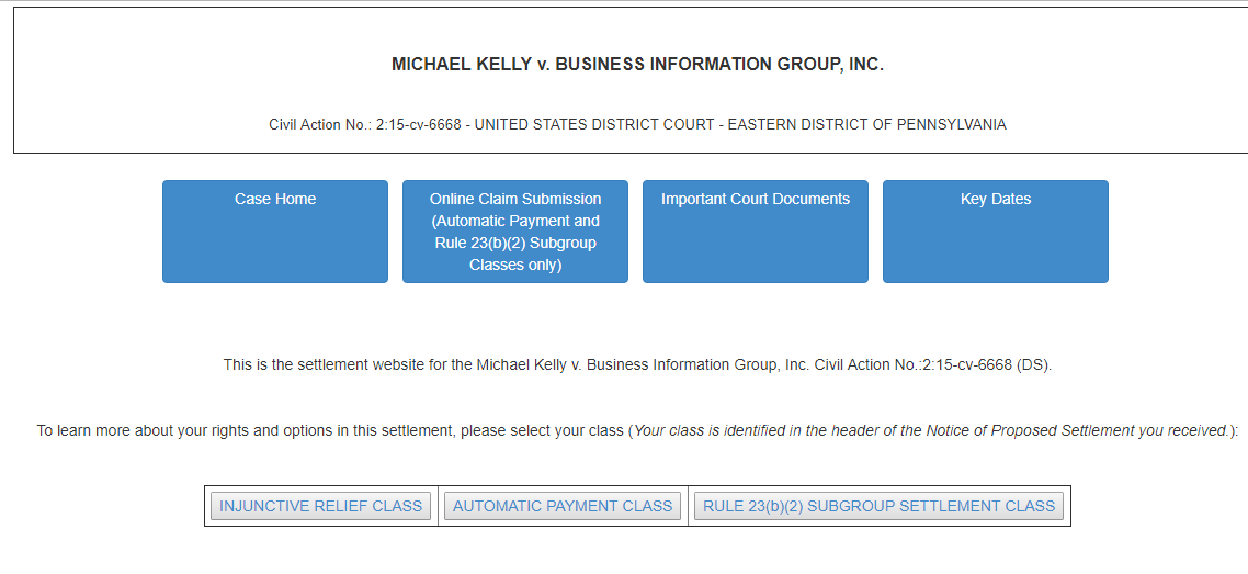 File Claim BIG Background Check Class Action