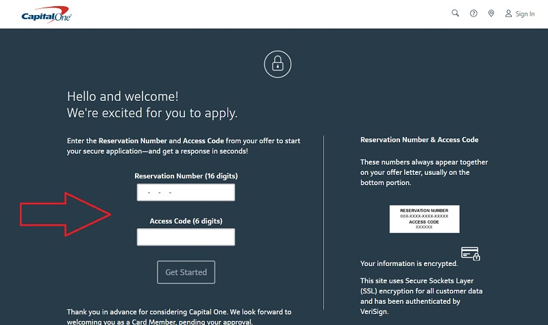 Respond to the Capital One Mail offer