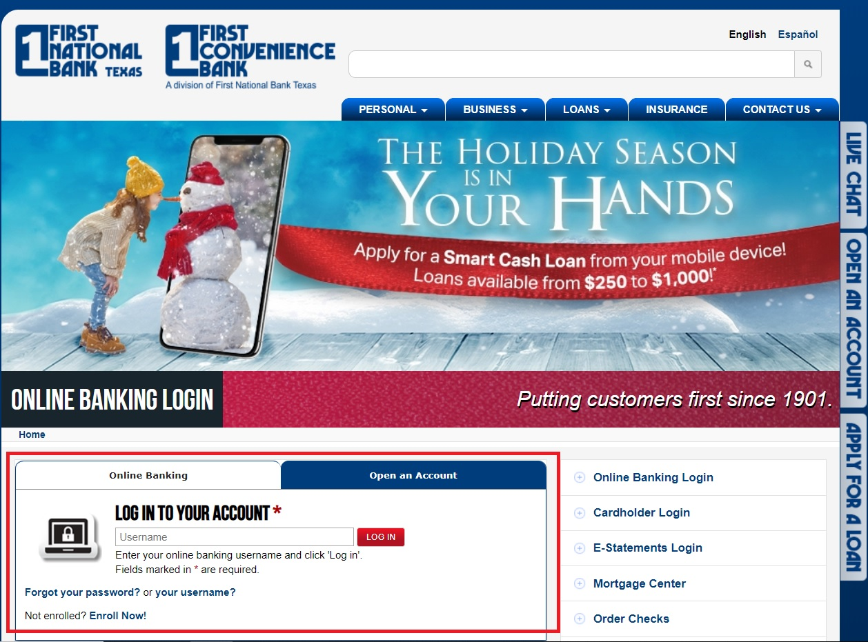How to Log into First Convenience Bank