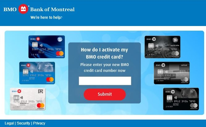 Activate a BMO Harris Credit Card