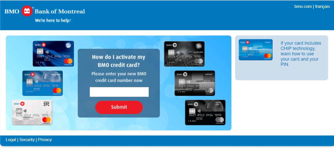 BMO Credit Card Activation Guide