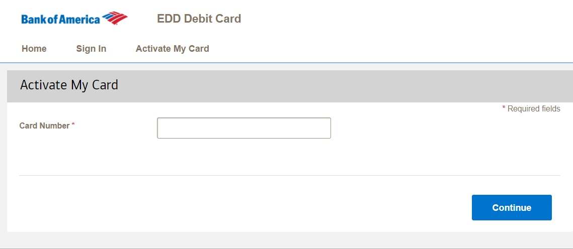 Bank of America Debit Card Activation