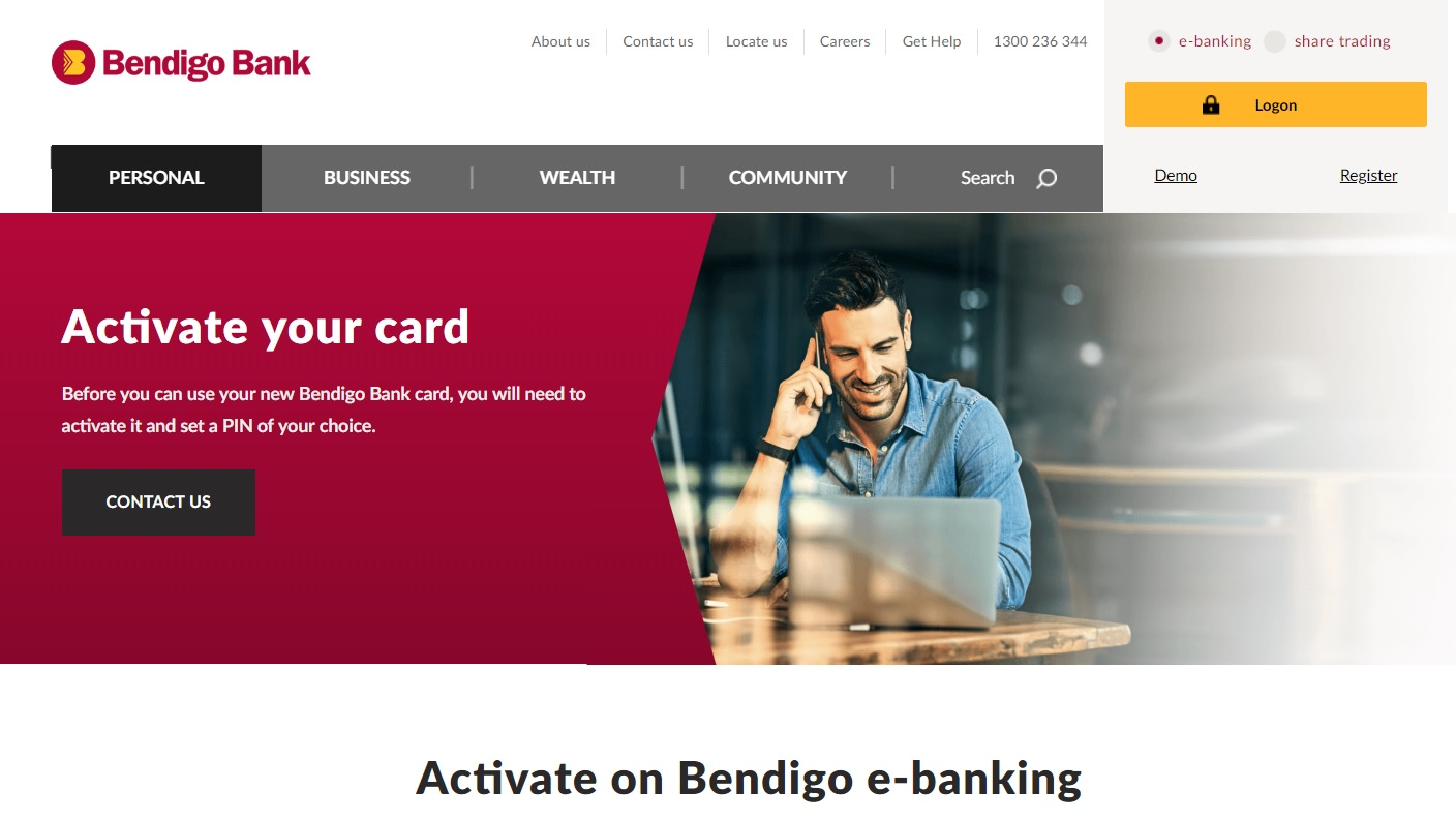 Bendigo Bank New Card Activation