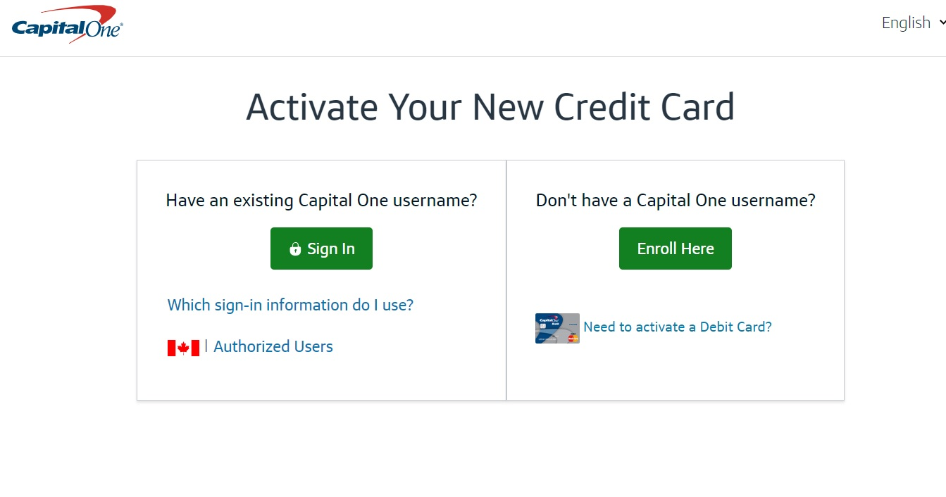 Capital One Activate Your Card