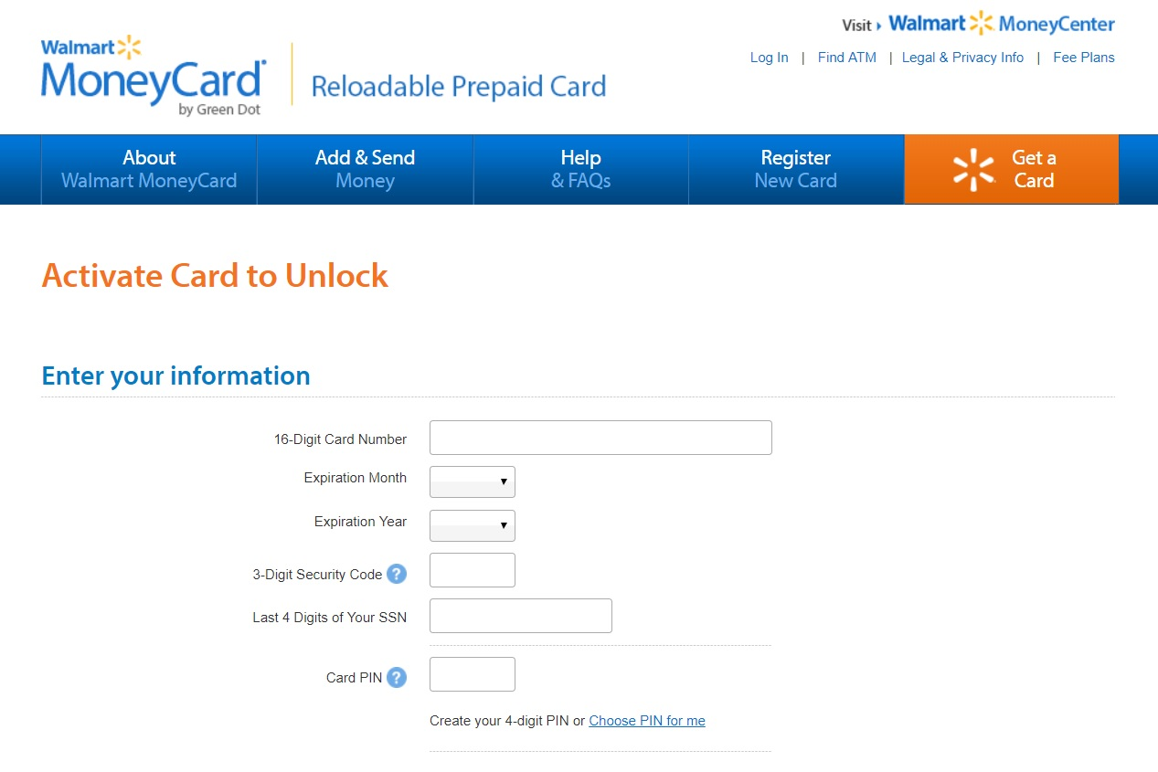 How to Activate Walmart Money Card