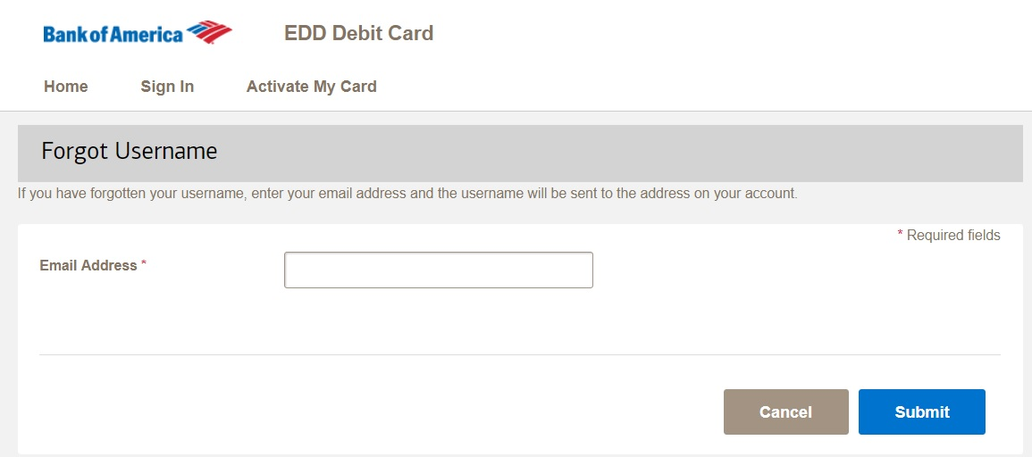 How to Log into Bank of America EDD Card