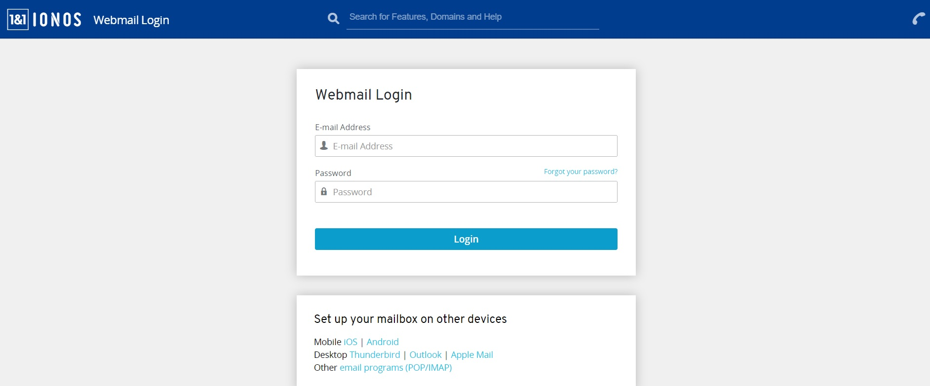 How to Log into Webmail 1and1