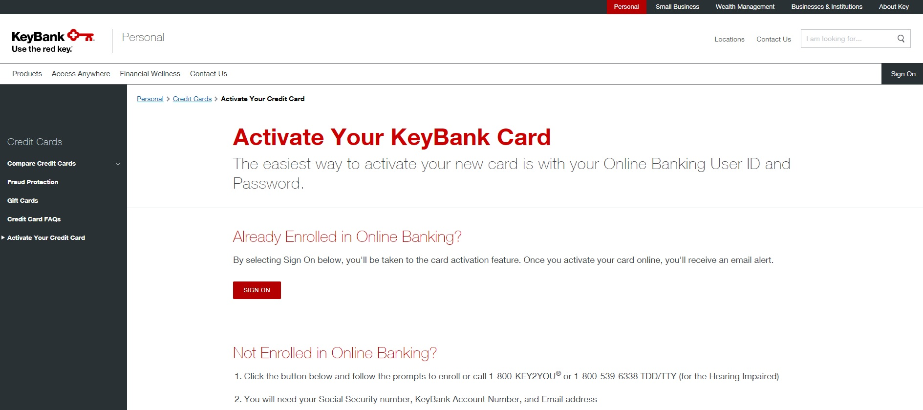 www key com | Key Bank Card Activation Guide