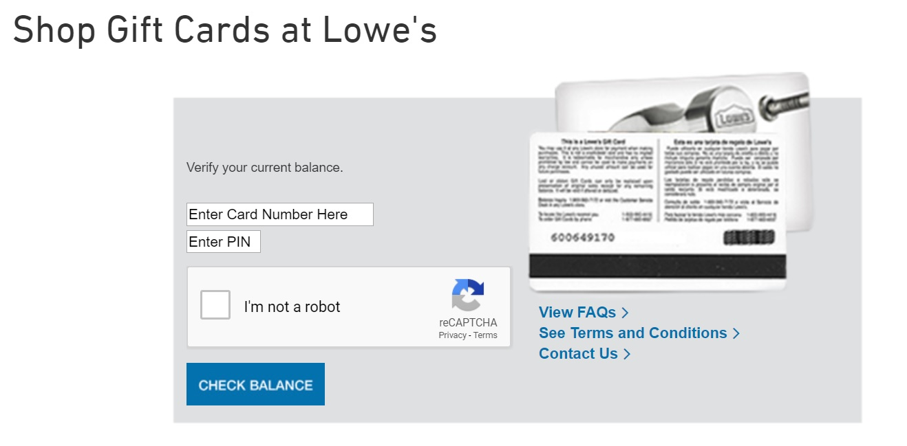 Lowes Card Balance