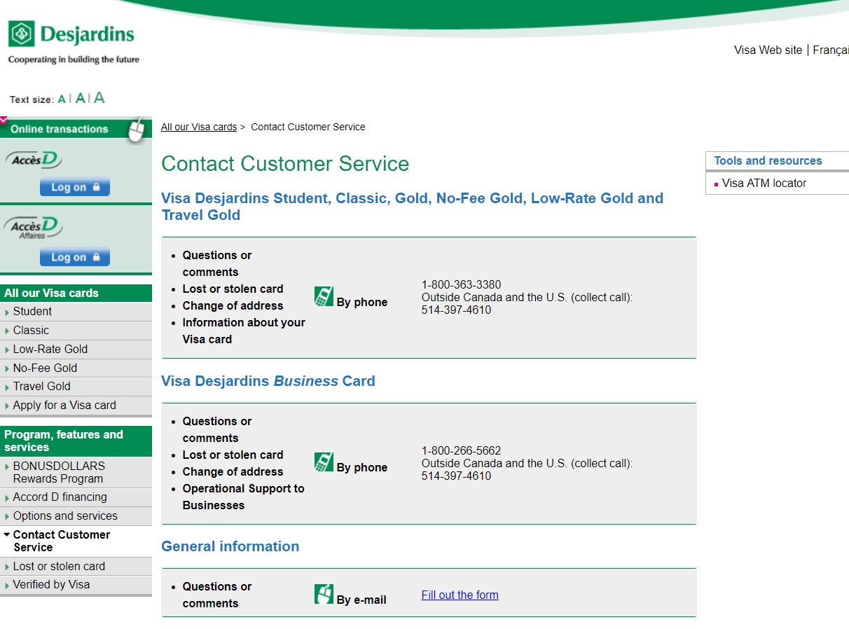 how to activate a desjardins card