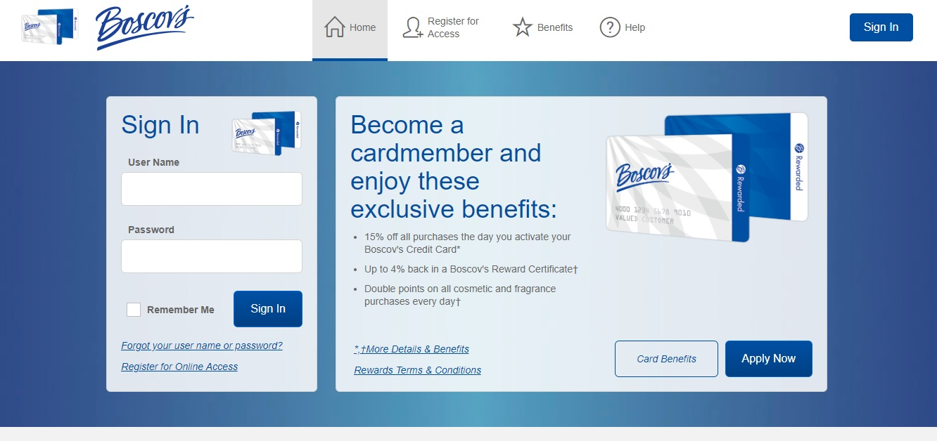 Boscov Credit Card Payment