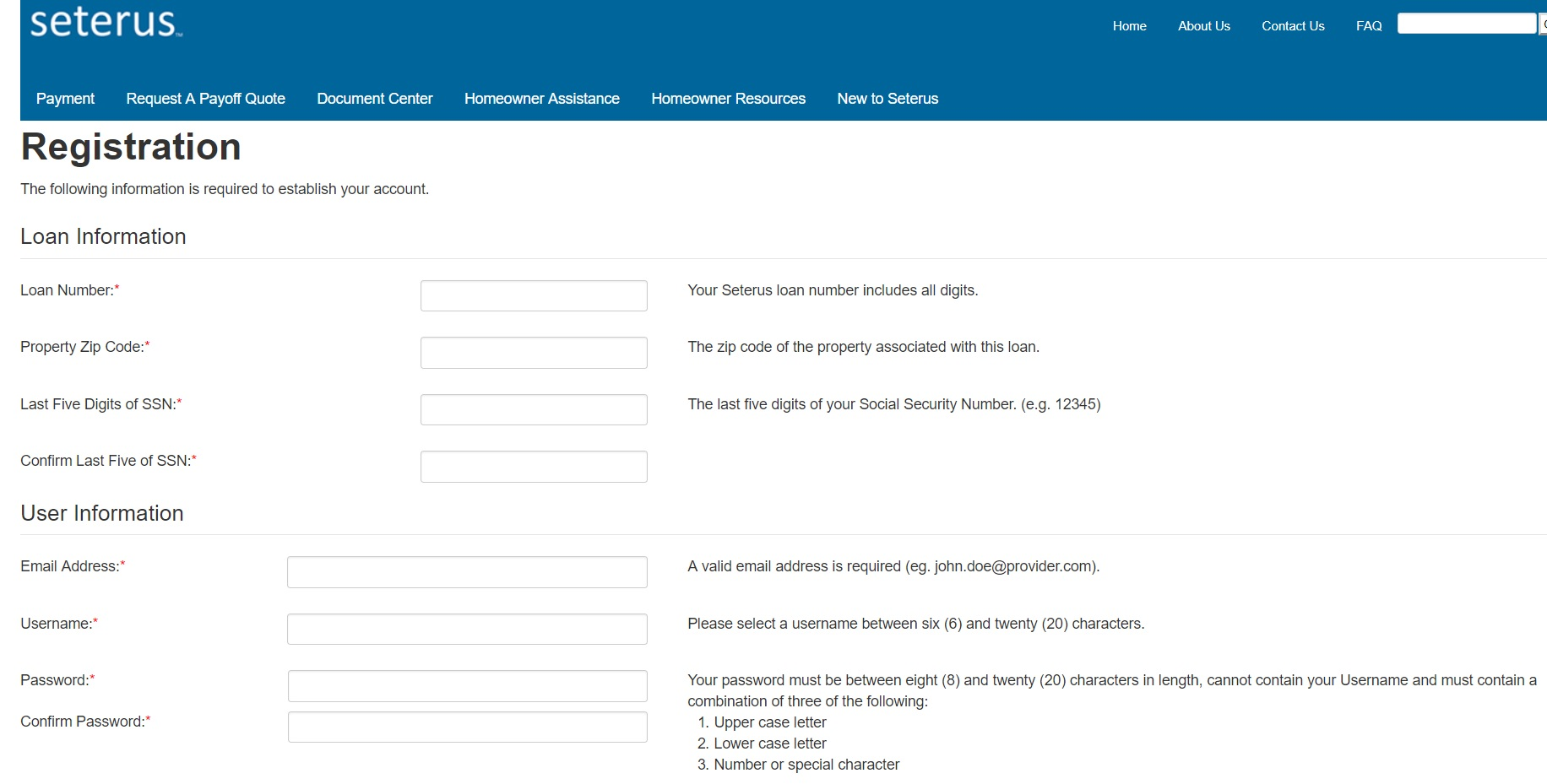 How to Register for a Seterus Account