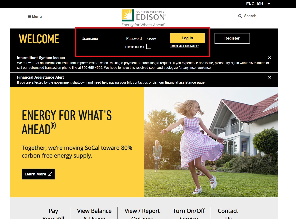 Southern California Edison Login