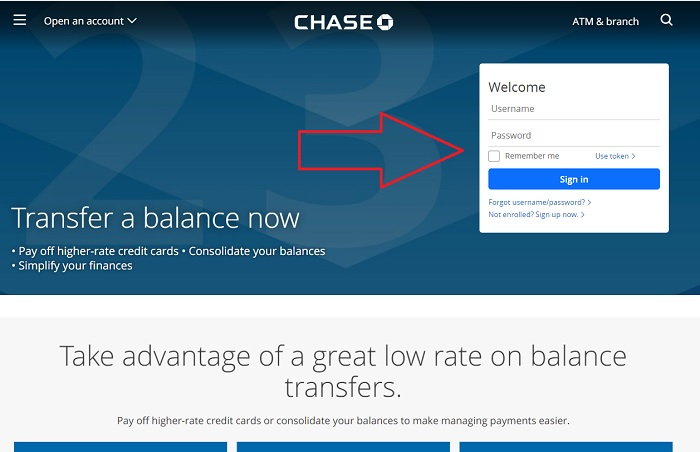 Procedure to do a Balance Transfer with Chase
