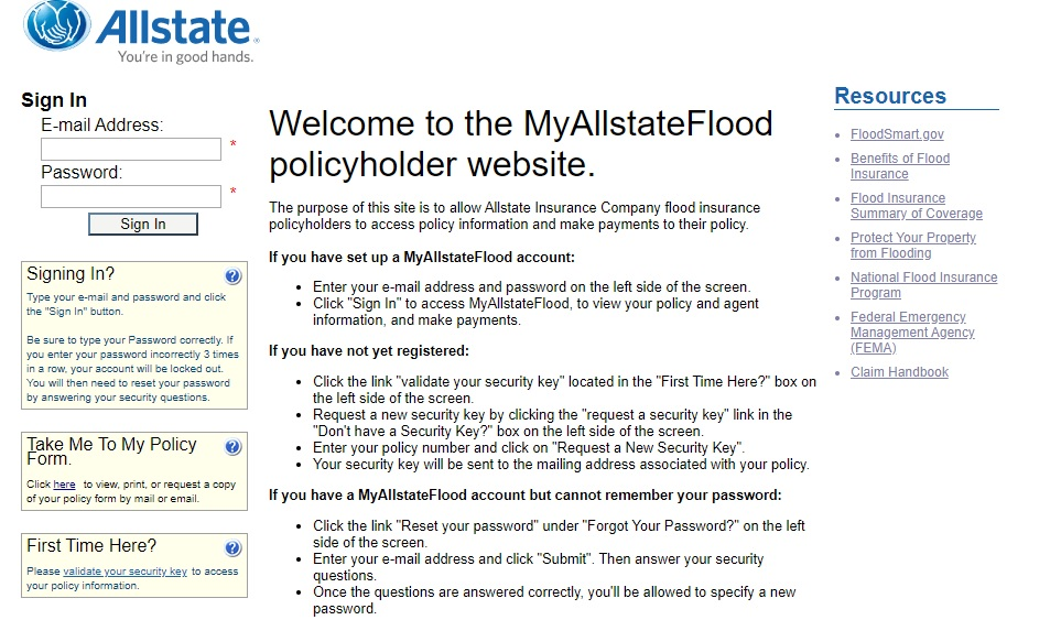 Allstate Food Insurance Login