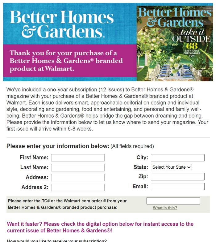 Walmart Better Homes & Gardens Offer